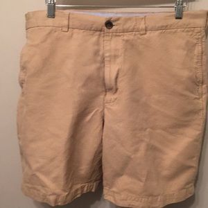Brooks Brothers Linen flat front shorts size 38